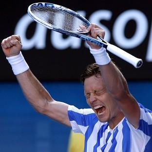 Tomas Berdych is through to the semi-finals (AP)