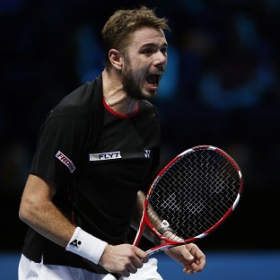 Stanislas Wawrinka, pictured, beat Novak Djokovic to reach of the semi-finals of the Australian Open