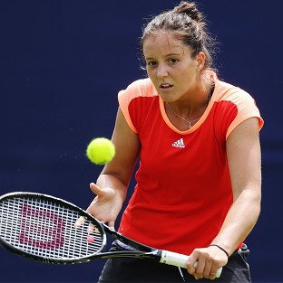 Laura Robson, pictured, has been replaced by Jocelyn Rae