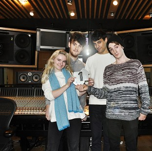 British group Clean Bandit, who stormed to the top of the singles charts with their dance pop tune Rather Be, featuring Jess Glynne