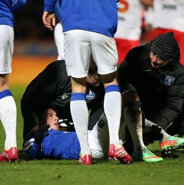 Burnley and Pendle Citizen: Bryan Oviedo has had surgery after breaking his tibia and fibula against Stevenage
