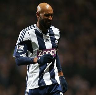 Nicolas Anelka was forced off early in West Brom's 4-3 loss at Ast