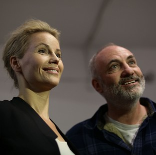 The Bridge stars Sofia Helin and Kim Bodnia during at Nordicana 2014