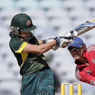 Australia's Alyssa Healy, left, chipped in with 22 runs as the hosts took some consolation from a losing series with a win