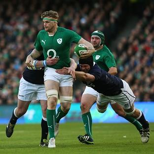 Jamie Heaslip, centre, led Ireland to victory in their Six Nations opener against Scotland