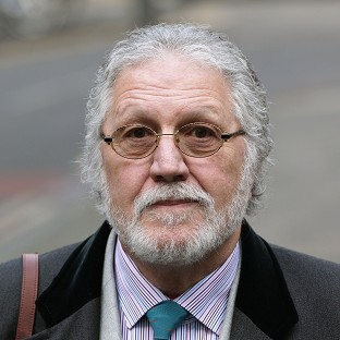 DJ Dave Lee Travis arrives at Southwark Crown Court in London