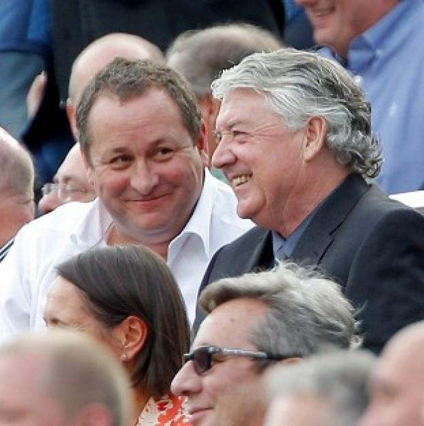 Burnley and Pendle Citizen: Mike Ashley, left, is in no rush to replace Joe Kinnear