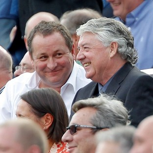 Mike Ashley, left, is in no rush to replace Joe Kinnear