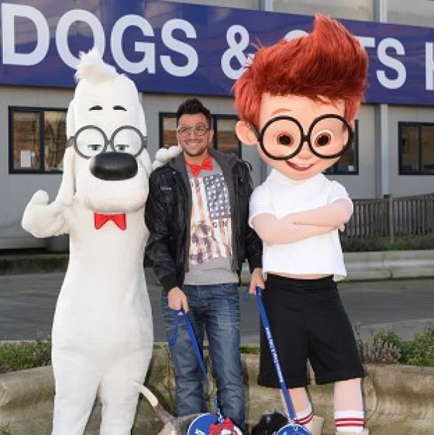 Burnley and Pendle Citizen: Peter Andre named two dogs at Battersea Dogs and Cats Home after the two lead characters in the film Mr Peabody and Sherman