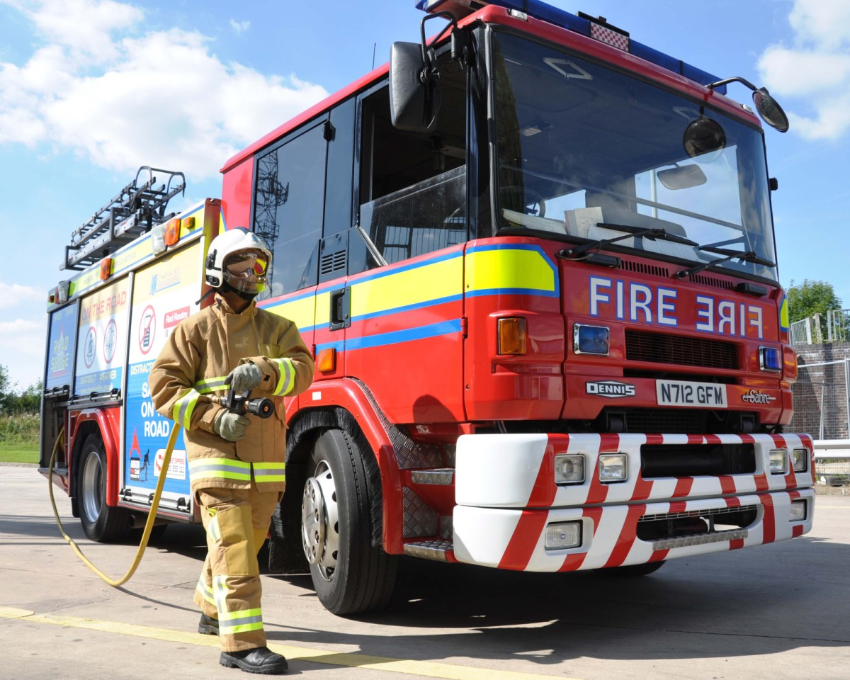 Three fire engines fight blaze in Fence