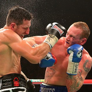 George Groves, right, and Carl Froch are in talks over a rematch