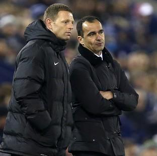 Burnley and Pendle Citizen: Roberto Martinez, right, insists Graeme Jones, left, remains committed to Everton