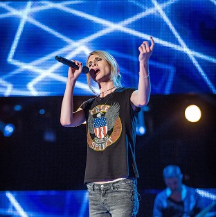 James Byron takes part in the blind audition for the BBC1 reality show, The Voice