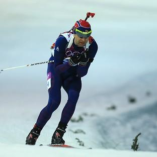 Ole Einar Bjoerndalen took gold in the 10km Sprint Biathlon