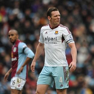 Kevin Nolan scored both goals in West Ham's victory
