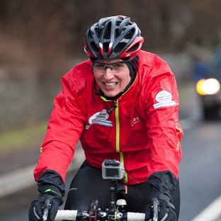 Davina McCall has faced horrendous weather conditions during her Sport Relief challenge