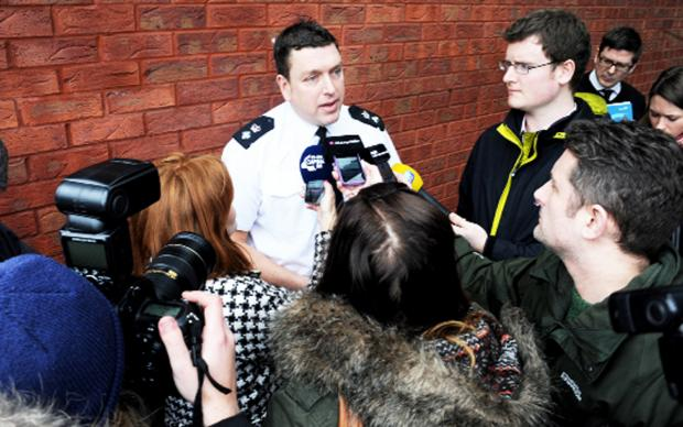 Chief Supt Chris Bithell during yesterday's press conference