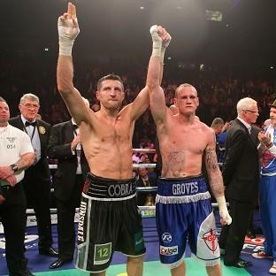 Carl Froch, left, and George Groves, right, will go head to head again on May 31