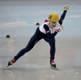 Elise Christie was deemed to have not finished her 1500m heat