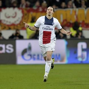 Zlatan Ibrahimovic celebrates his second goal (AP)