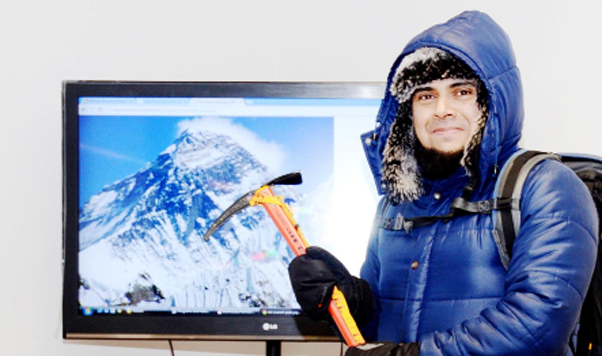 Faruk Vali, who is set for his journey to Everest