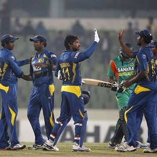 Sri Lanka won the second one-day international against Bangladesh by 61 runs (AP)
