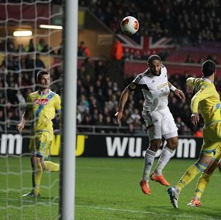 Ashley Williams went close for Swansea