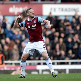 Kevin Nolan netted West Ham's third goal
