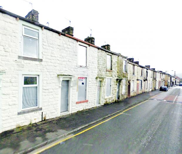 Abel Street, Burnley, where the attack took place