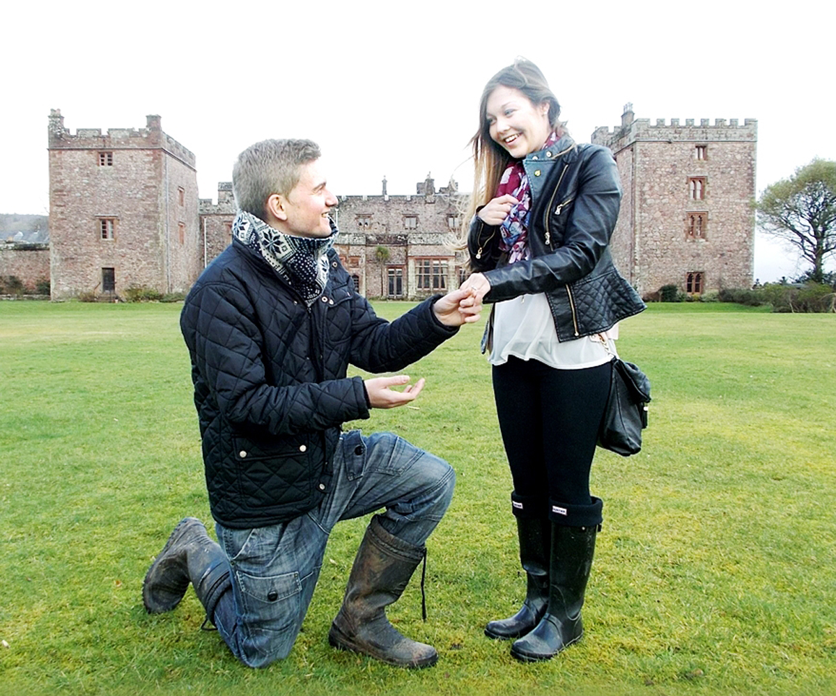 Mat Burrow whisked girlfriend Scarlett Jepson off to Muncaster Castle