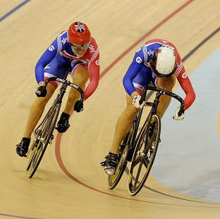 Great Britain's Jess Varnish, left, and Becky James, right, were Britain's only medallists on day one in Cali
