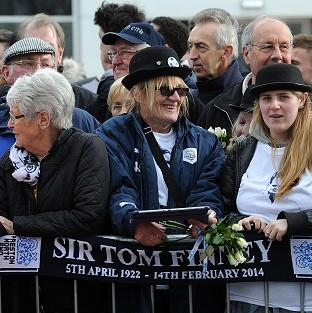 Thousands lined the streets of Preston to honour the passing of Sir Tom Finney