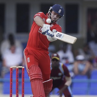 Michael Lumb, pictured, made a strong start to England's innings with Moeen Ali (AP)