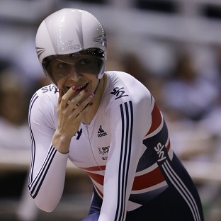 Joanna Rowsell celebrates after winning gold in the women's individual pursuit (AP)