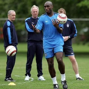 Sol Campbell, centre, feels race played a part in picking the England captain