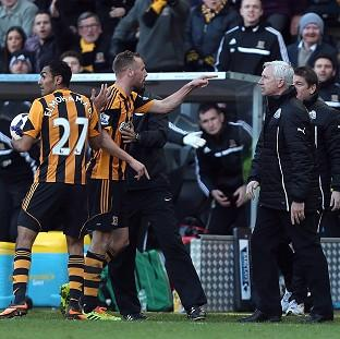 Burnley and Pendle Citizen: Newcastle United's manager Alan Pardew, centre, was sent to the stands following the incident