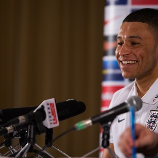 England's Alex Oxlade-Chamberlain says watching his goal against Brazil has helped him in his recovery from injury