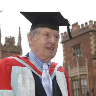 "Burnley and Pendle Citizen: Actor James ""Jimmy"" Ellis, who has died aged 82,  received an honorary degree from Queen's University in Belfast"