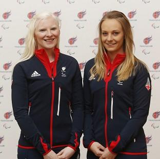 Burnley and Pendle Citizen: Kelly Gallagher (left) and guide Charlotte Evans (right) won Great Britain's first ever gold medal at the Winter Paralympics