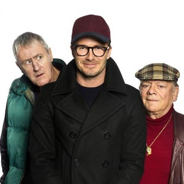 Burnley and Pendle Citizen: David Beckham joined Sir David Jason and Nicholas Lyndhurst in a special Only Fools And Horses sketch