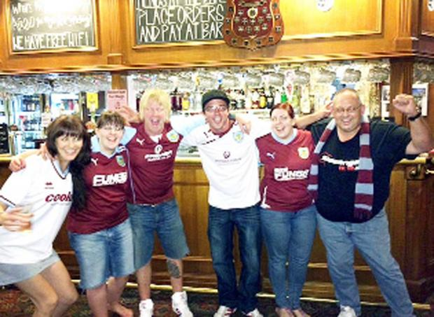 Burnley and Pendle Citizen: Burnley fans in  The Charles Dickens pub, Melbourne