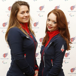 Jade Etherington, right, and guide Caroline Powell, left, were left disappointed by slalom silver at the Winter Paralympics