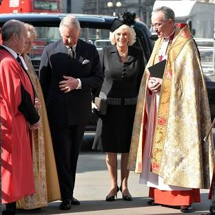 Burnley and Pendle Citizen: The Prince of Wales and Duchess of Cornwall arrive to attend a service to celebrate the life of Sir David Frost at Westminster Abbey, London.