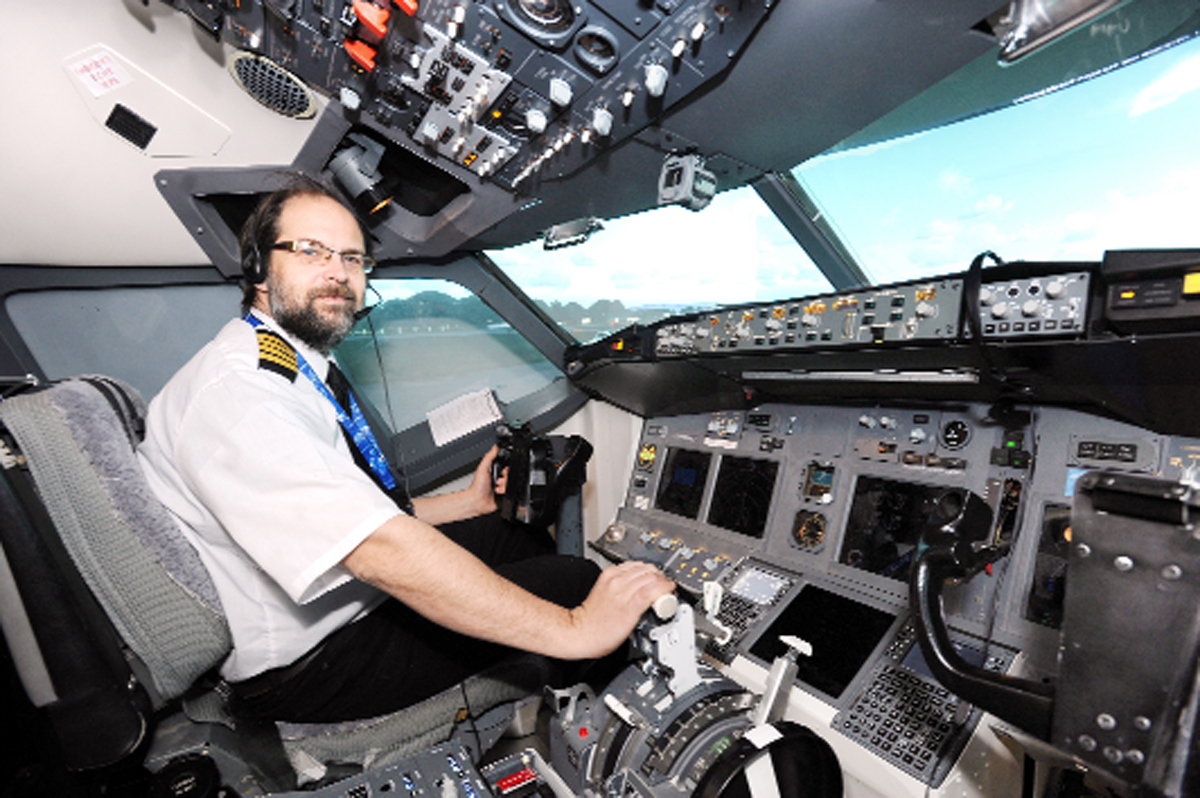 VIDEO: East Lancs man's £40k flight simulator put to the test
