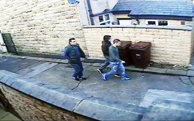 Burnley and Pendle Citizen: CCTV image of the men police wish to speak to about the incident