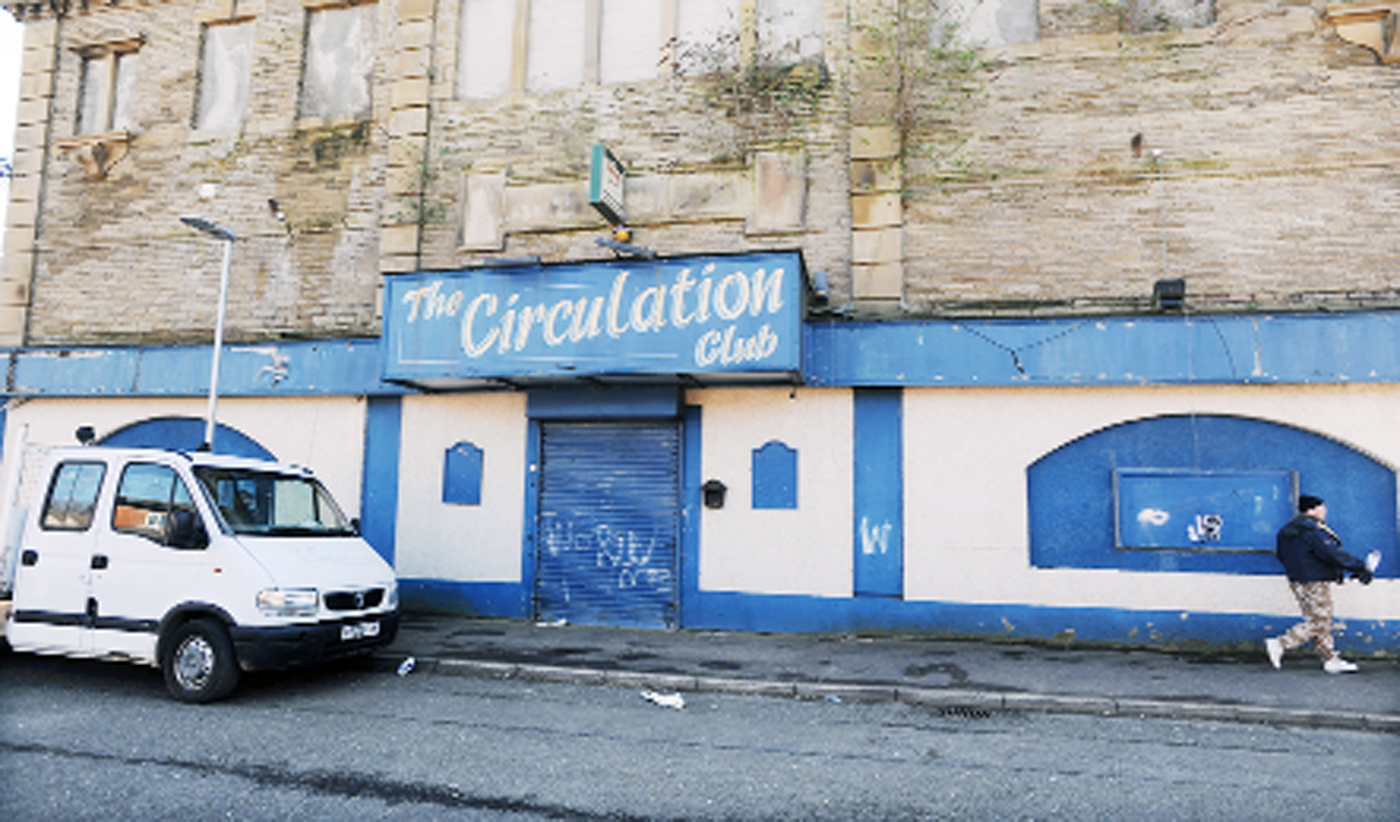 The former Circulation Club in Holmes Street, Burnley has become a magnet for vandals and arsonists