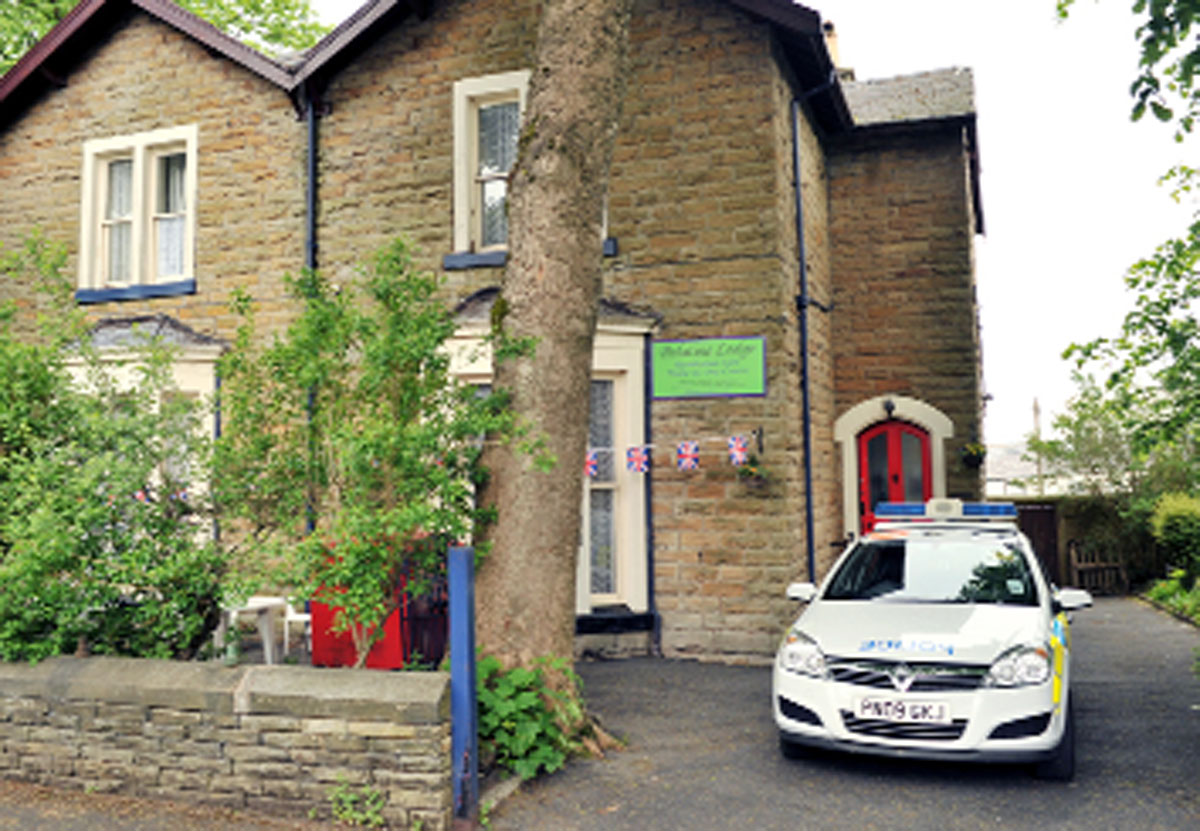 A flashback to the former Palatine Lodge care home, in Palatine Square, Burnley