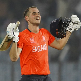 Alex Hales hit a stunning 116 not out to see England over the line