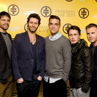 Robbie Williams has until May to decide whether he will rejoin Take That