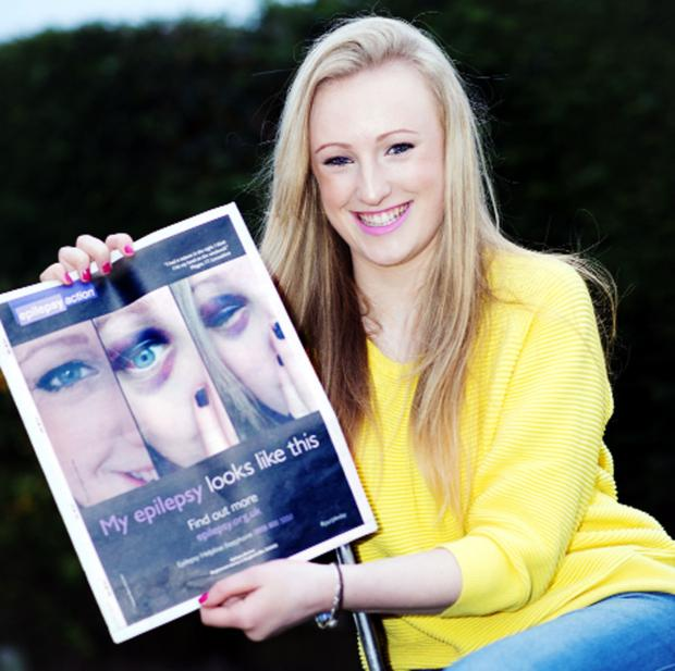 She is fronting the  awareness campaign for Epilepsy Action charity so she can help others